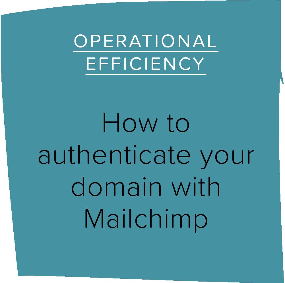 How to authenticate your domain with Mailchimp