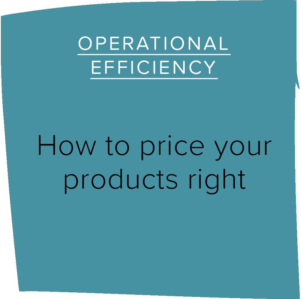 How to price your products right