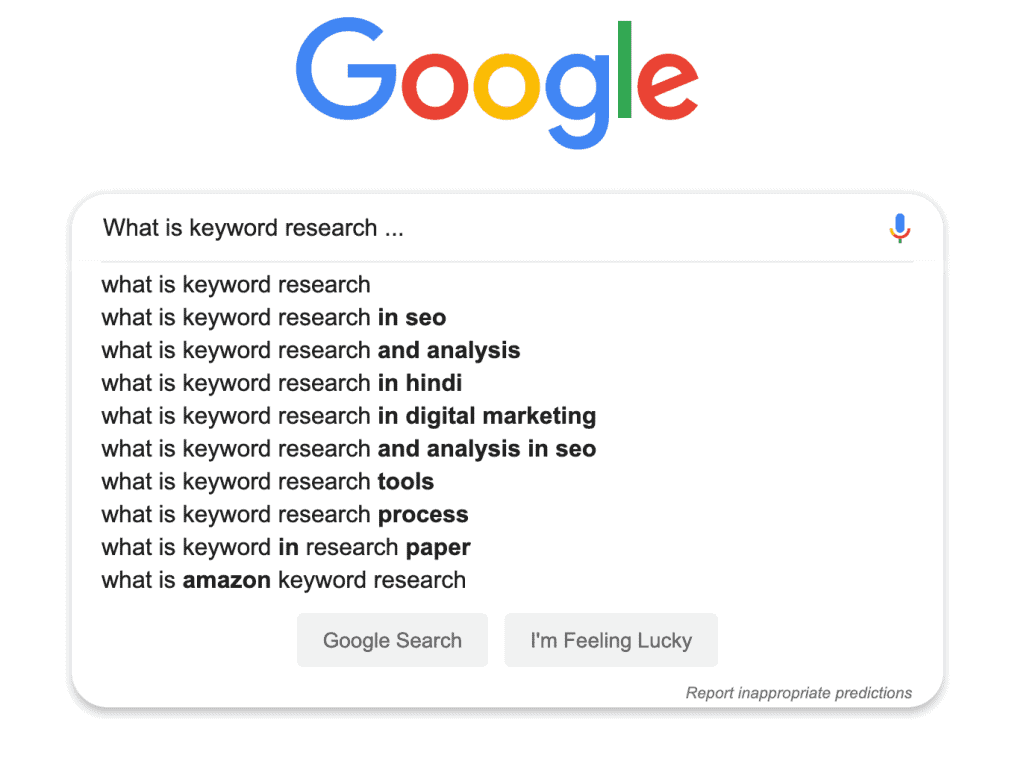 What is Keyword Research Google Screenshot